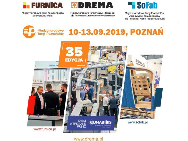 Targi Drema, Furnica i Sofab 2019 – kompleksowo dla przemysłu drzewnego i meblarskiego